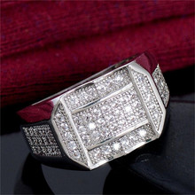 Men's Fashion Hip Hop Gold Rings for Male Motorcycle Party Steampunk Rhinestone Rings Hip Hop Jewelry Fashion Accessories