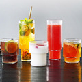 Scandinavian clear glass for drinking whiskey in a bar large capacity juice glass