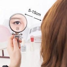 Мини зеркало для макияжа косметическое с увеличением портативное