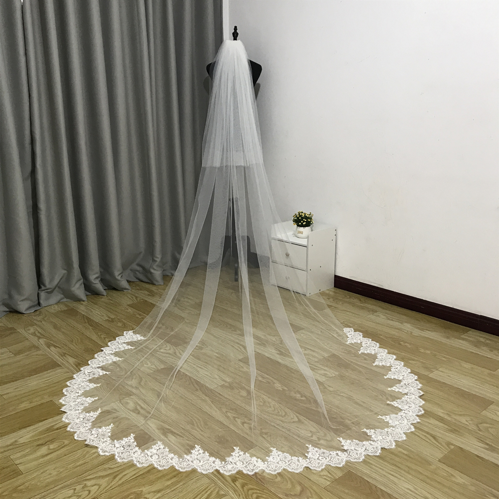 Купить реальные фотографии новинка 2 слоя вуали свадебная вуаль фата