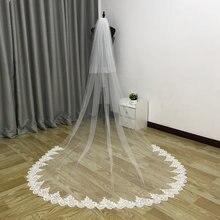 Реальные фотографии новинка 2 слоя вуали свадебная вуаль Фата