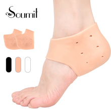 Buy Soumit Silicone Heel Socks Moisturizing Anti-Crack Socks Gel Heel Protector with Breathable Hole Massager Foot Skin Care Insoles directly from merchant!