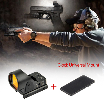 Collimator Sight Mini RMR SRO Red Dot Scope Sight 2.5 moa Airsoft Hunting Reflex Sight fit 20mm Weaver Rail For Glock / Rifle c more style red dot sight railway reflex for ris rail 4 color options free shipping