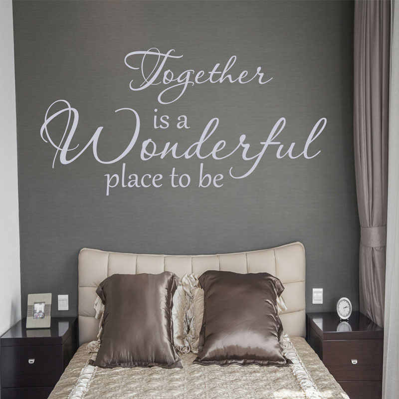 Together Is A Great Place Quotes Wall Sticker Vinyl Home Decoration Bedroom Love Words Wall Decals Interior Design Mural 4150 Wall Stickers Aliexpress