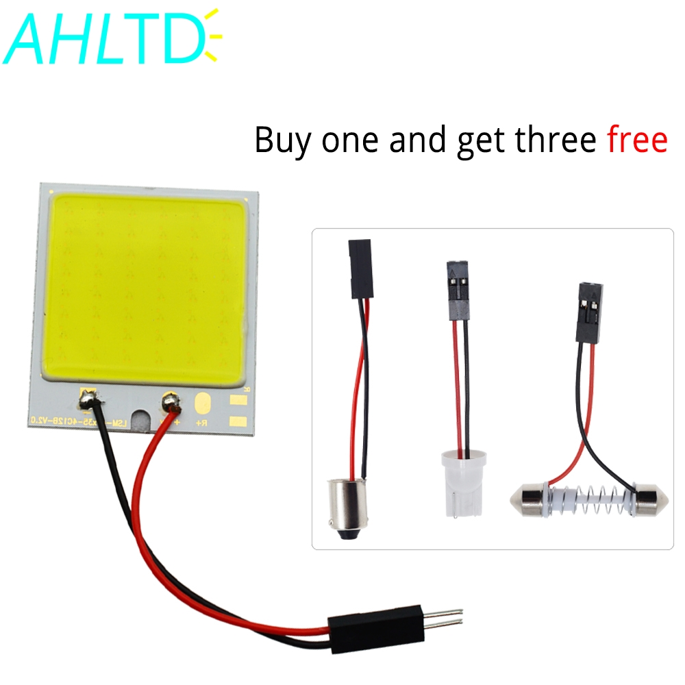 White Blue Red T10 C5W Cob 48SMD chip Reading Lamp Car Led Parking Bulb Auto Interior Panel Light Festoon License Plate Lights in Signal Lamp from Automobiles Motorcycles