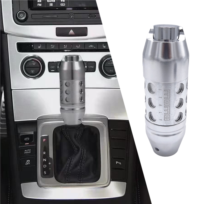 1PCS Manual Car Gear Shift Knob Black Universal Crystal Diamond Aluminum Leather
