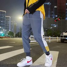 купить Harajuku Autumn Casual Pants Men Streetwear Side Stripe Hip Hop Sweatpants Joggers Sweatpants Joggers по цене 622.36 рублей