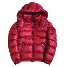 Г. Зимние мужские пуховики пуховое пальто для мальчиков зимняя верхняя одежда с капюшоном для снежной погоды для мужчин M, L, XL, XXL, черный цвет