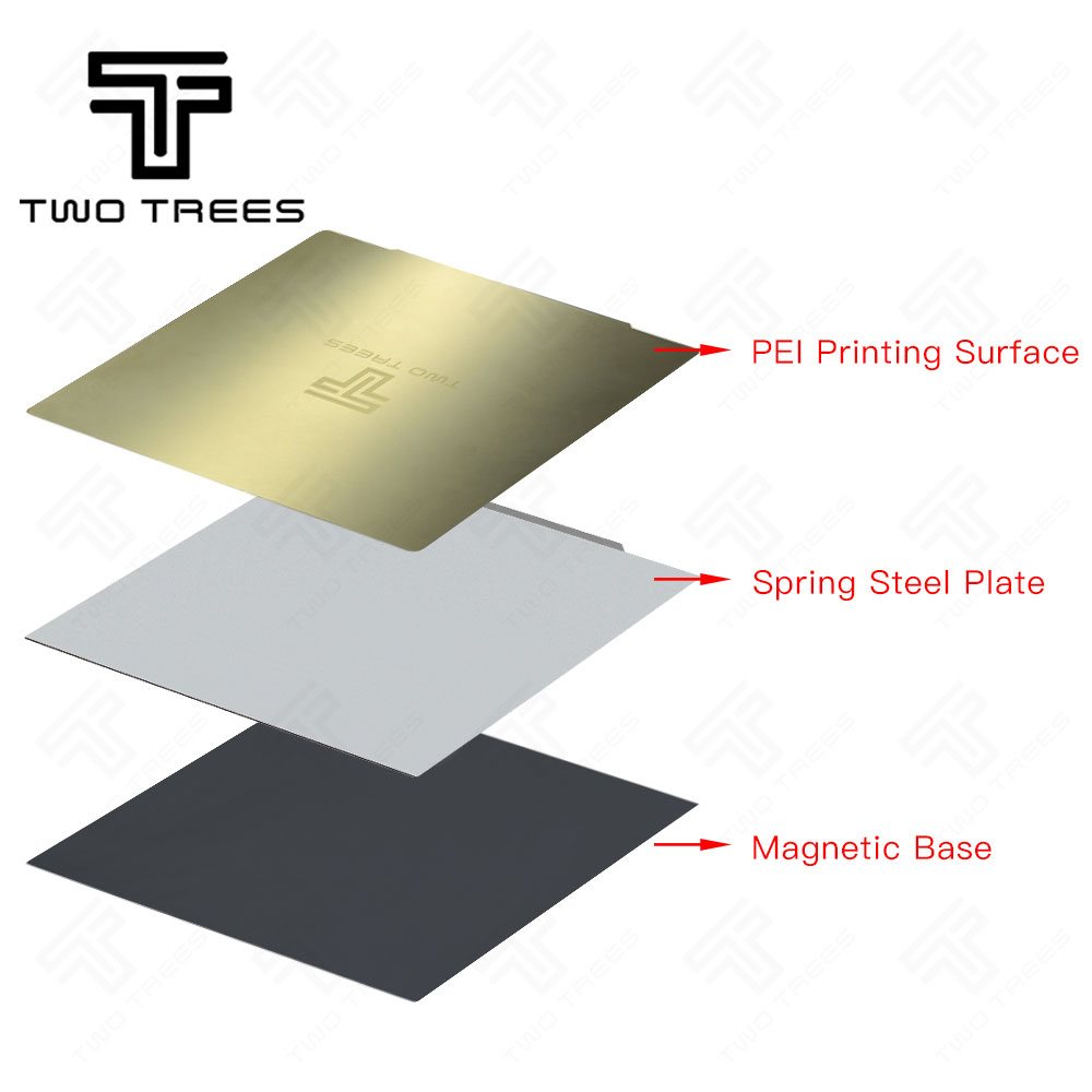 Image 5 - 220x220/235x235/310x310mm Removal Spring Steel Sheet Pre applied PEI Flex Magnetic Hot Sticker for CR10 Ender 3 Hot Bed Sapphire-in 3D Printer Parts & Accessories from Computer & Office
