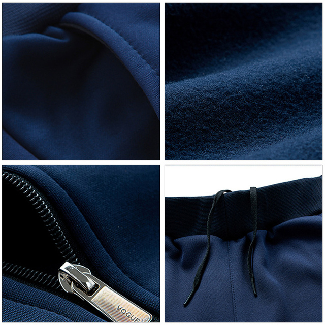 AIRGRACIAS Two Piece Set Men Sport Sweatshirt Fleece 2020 Spring New Jacket And Sweatpants Mens Tracksuit US/Euro Size  S-XXL 5