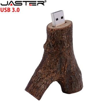 JASTER usb 3.0 Wood Branch style usb flash drive pen drive 4GB 8GB 16GB 32GB wooden usb 3.0 pendrive