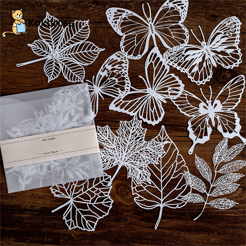 Kokorosa Lace Paper Hollow Tableware Decoration Packaging Pattern Round Windowed Square Door Scrapbook Paper New Wrapping Paper