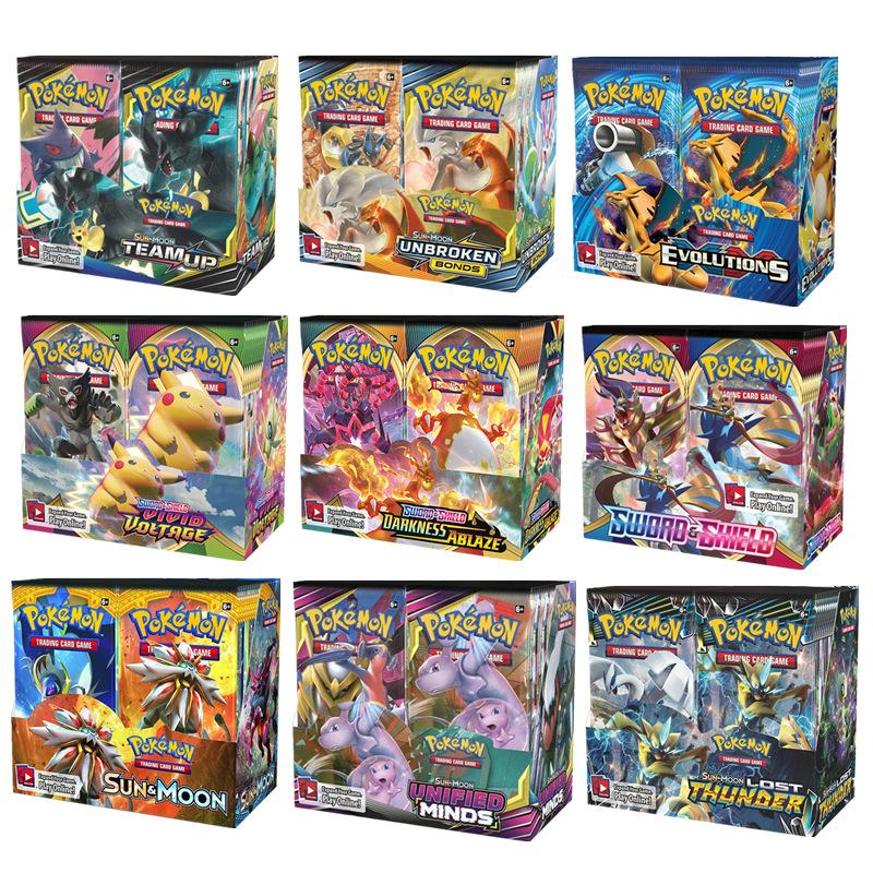 324pcs Pokemon Card All Latest Versions Pokemon Cards XY Sun Moon Sword & Shield 36 Pack Booster Box Collecting Card Toys