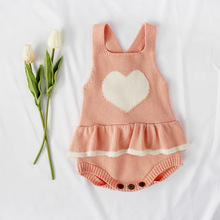 BABY BALL Baby Rompers 2019 Fashion Autumn Winter Love Heart Pattern Knitting Roddler Cotton Knitting Clothing For Girls Kids knitting for baby