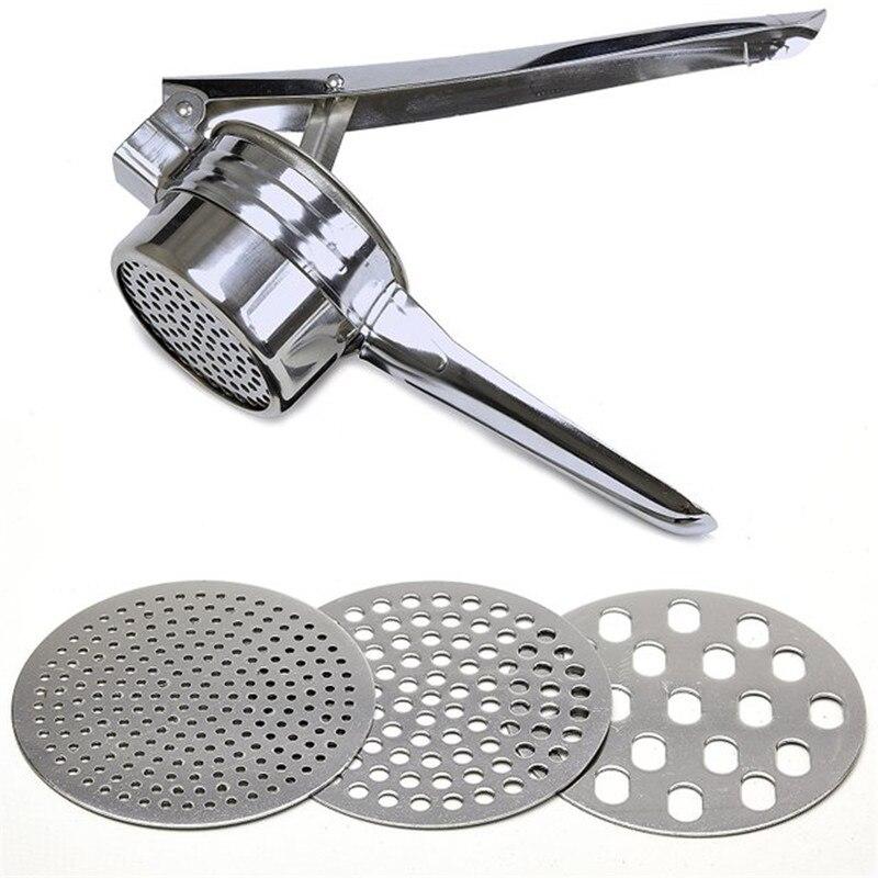 Presse-agrumes en acier inoxydable, avec 3 disques de finesse interchangeables, outils pour fruits et légumes, outils de cuisine