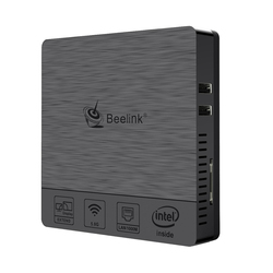 2.4G+5.8G Beelink BT3 PRO Mini PC Intel Atom x5-Z8350 Processor 4GB RAM 64GB SSD Dual-band WiFi 1000M LAN EU/US Plug