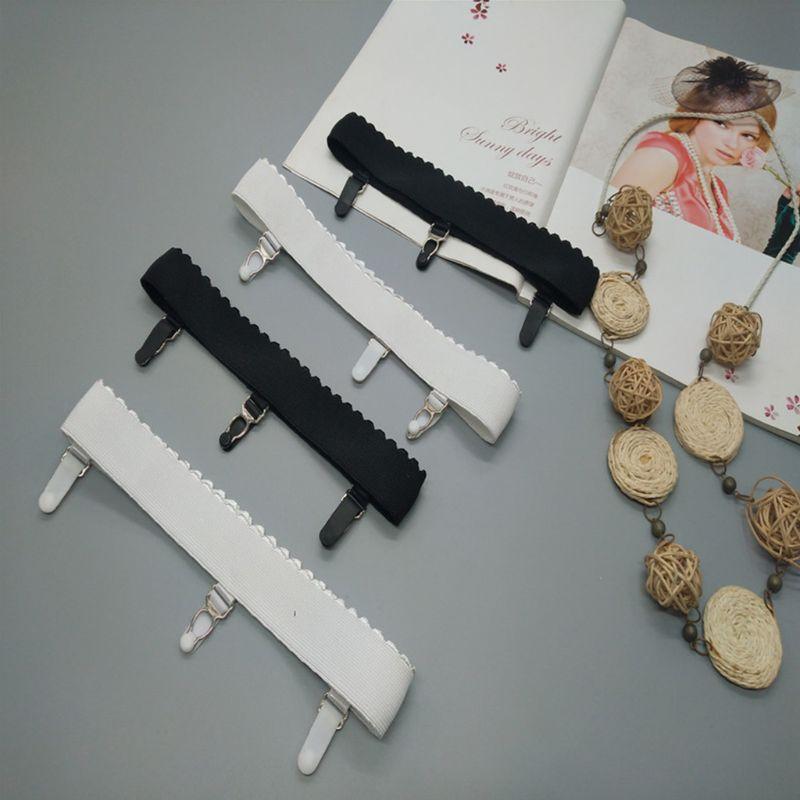 Womens Elastic Anti Slip Leg Garter Belt Thigh High Stocking Suspender With Clip