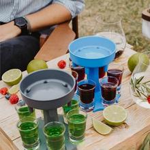 6 kieliszek dozownik dozownik do alkoholu Party gry do picia Bar koktajl dozownik do wina piwo szybkie narzędzie do napełniania tanie i dobre opinie CN (pochodzenie) Z tworzywa sztucznego Ekologiczne Miarki barmańskie Wine glasses Color box Circular Plastic Suit Contemporary and contracted