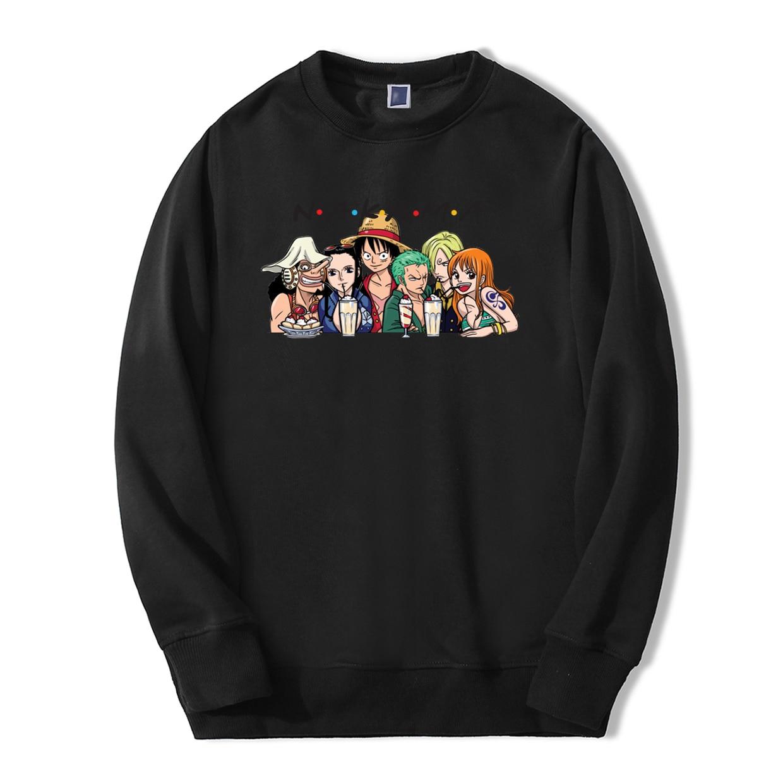 Anime One Piece Nakama Print Hoodies Friends Funny Men 2019 Spring Winter Fashion Sweatshirts Hip Hop bodywarmer male Tracksuit