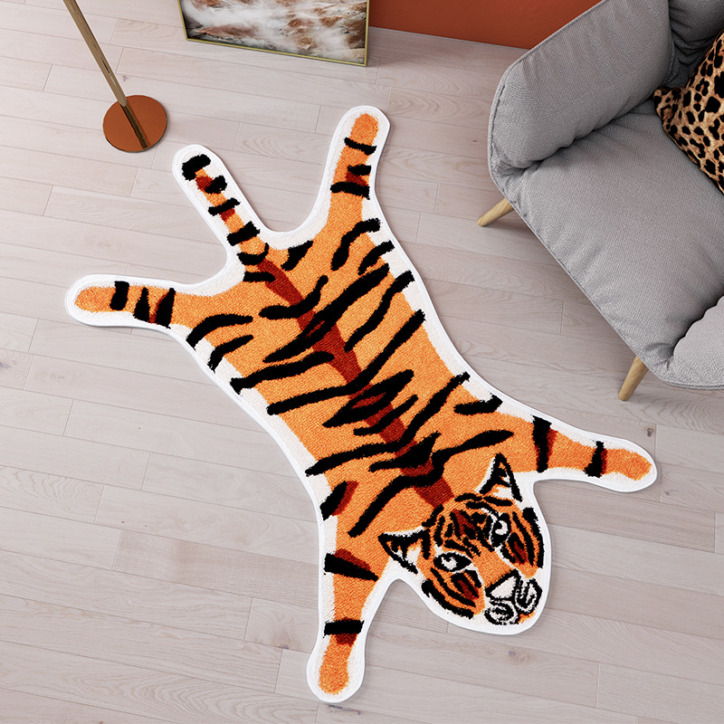 Animal Rug Cool Tiger Panda Carpet Home Kids Room Toilet Kitchen Floor Mat Door Dry Feet Mats Cartoon Anti Slip Rugs For Bedroom