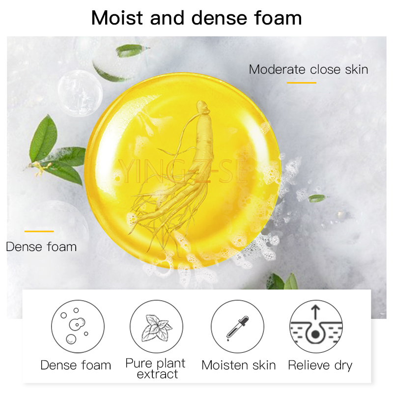 Ginseng Facial Essential Oil Skin Care Anti-mites Handmade Soap Take Care Of Health Plant Essential Oil Soap