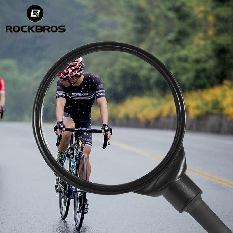 ROCKBROS จักรยานจักรยานกระจก 360 ° ปรับ HD อะคริลิคนาทีพื้นผิวไฟฟ้า Moto รถจักรยานยนต์กระจกมองหลังจักรยานอุปกรณ์เสริม