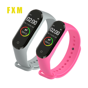 цена на Smart M4 Wristbands Men Women Waterproof Bracelet Bluetooth Heart Rate Monitor Fitness watches For Android IOS Sports clock M3