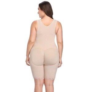 Image 4 - プラスサイズの女性フルボディニッパー痩身 mid 太ももシェイパー fajastummy コントロールシームレス産後ボディガードル