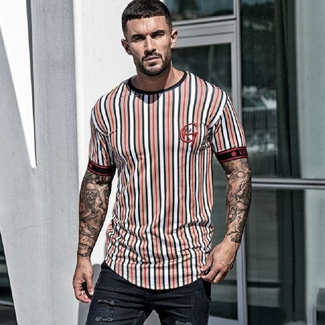 Casual Men T-shirt Stripe Summer Man   2