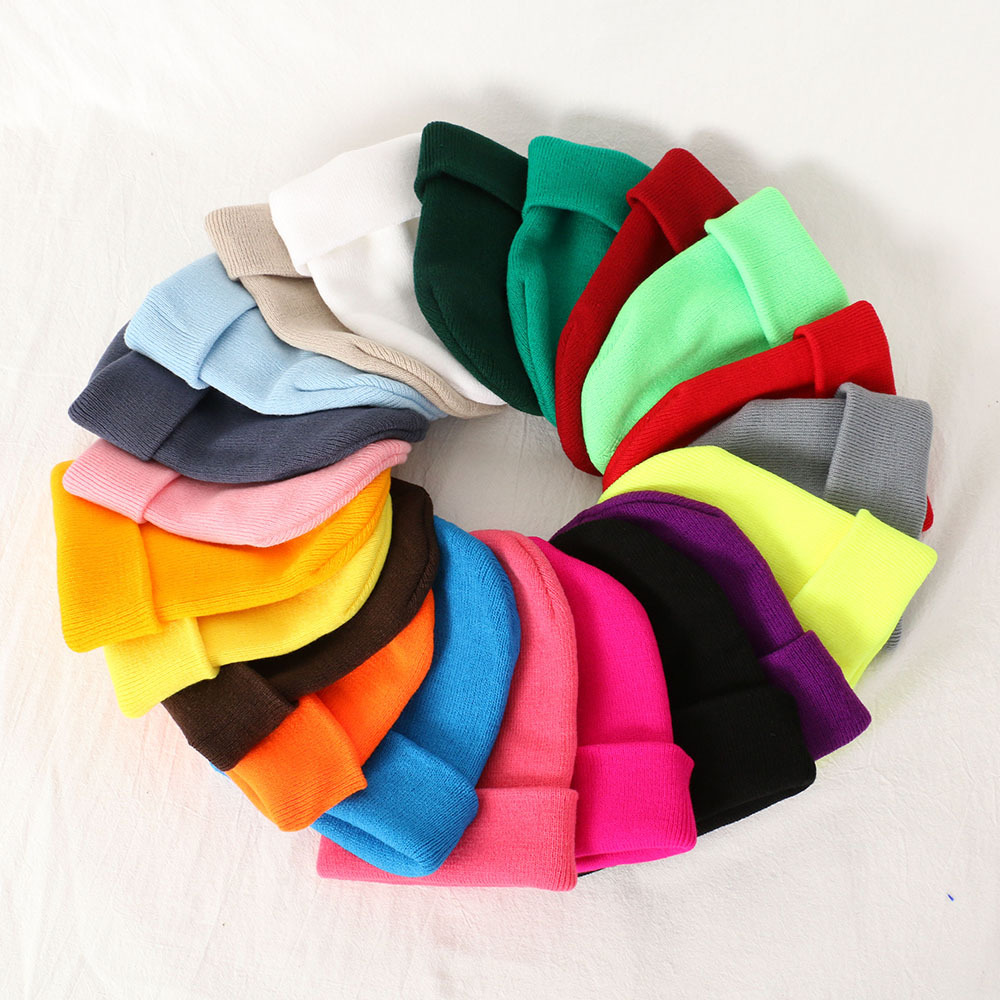 Autumn Winter Fashion Beanies For Men Warm Unisex Woman Hat Cute Bonnet Femme Knitted Hat 2019 Black White Red Pink