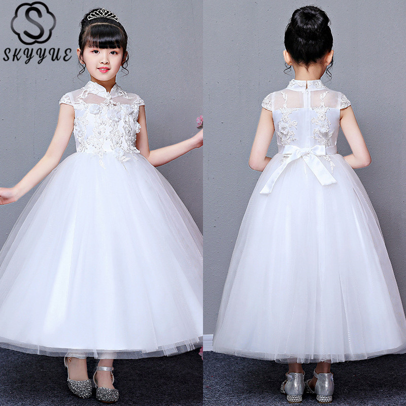 Flower Girls Embroidery Tutu Dress Gown for Kids Wedding Communion Formal Party