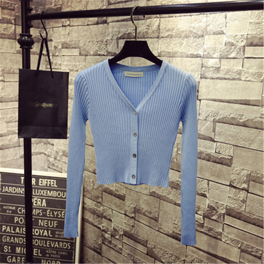 Korean Fashion Spring Newly Patchwork Sweaters Women Cardigans 2020 Slim Ladies Knitted Sweater Long Sleeve Buttons Sweater 1540 5