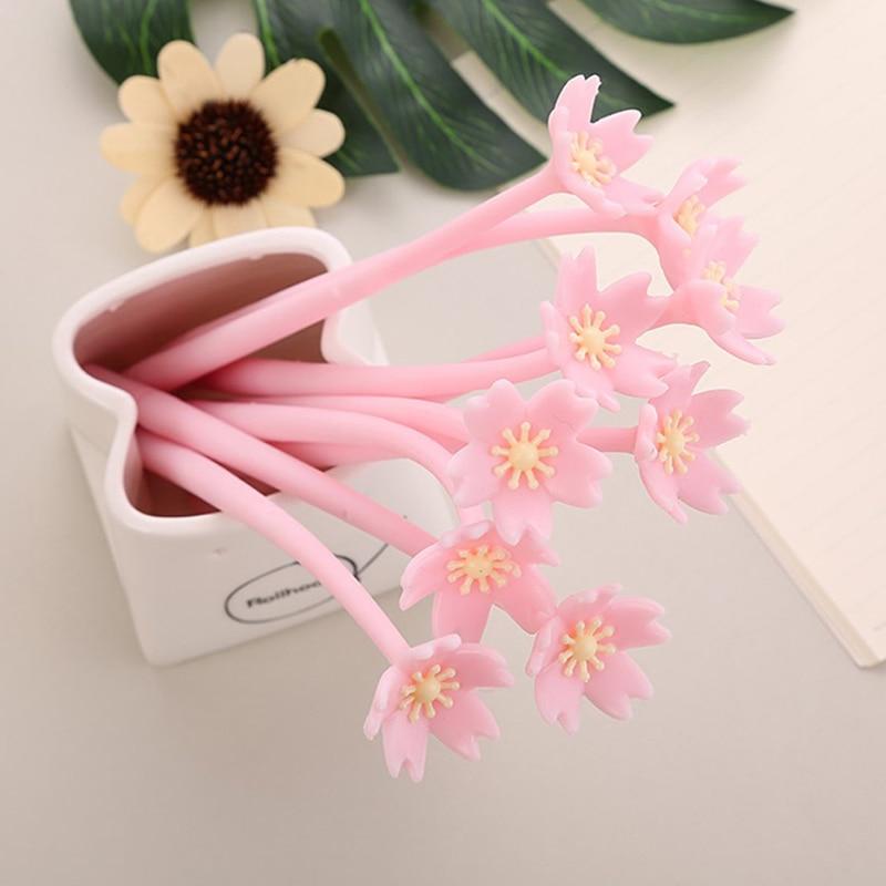 Креативная романтическая гелевая ручка Sakura 0,38 мм черная чернильная ручка для экзамена Канцтовары сладкий подарок