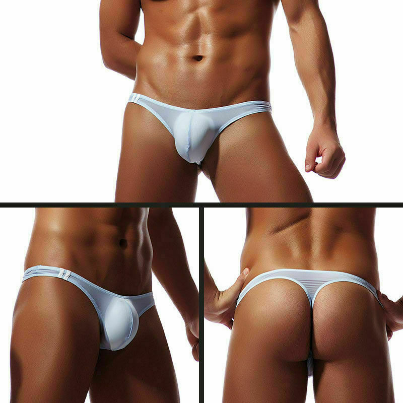 10 Styles New Men's Underwear T-Back G-String Briefs Sexy Breathable Tangas Thong Lingerie Fashion Breathless Thong Male