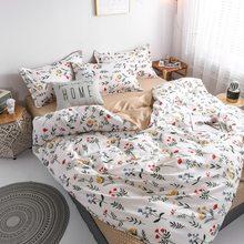Claroom زهرة حاف الغطاء بياضات سرير أبيض الملكة حجم مجموعة ملايات فراش مجاميع راحة الفراش AS11 #