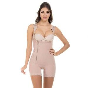 Image 2 - Mulheres busto aberto mais magro shapewear bodysuit controle de barriga levantador corpo shaper fajas colombianas S 6XL 3 cores shapers underbust
