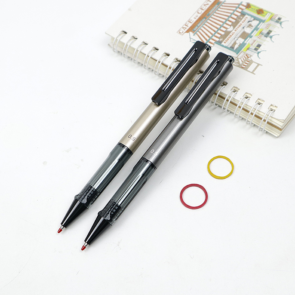 M&G Press Type Gel Pen Black Ink 0.5mm Office Supplies Stationery Gel Pens For Students Writing High Quality GEL PEN 2Pcs/lot