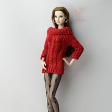 1/6 Dolls Clothes Nice Fashion Outfit Long Wool Sweater Beauty Sexy Colorful Handmade Doll Accessories BJD SD Toy For Children(China)