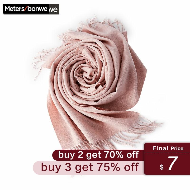 Metersbonwe 2019 Cashmere Autumn Winter Female Scarf Women Soft Scarves Wide Solid Colour Long Shawl Wrap Blanket Warm Tippet