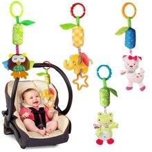 ألعاب الأطفال لحديثي الولادة خشخيشات المحمول إلى السرير الطفل لعبة 0 12 أشهر خشخيشات دمية على شكل حيوان الرياح الدقات سرير عربة شنقا لينة لعبة