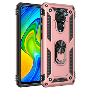 Phone Case For Xiaomi Redmi Note 9S 9 Pro MAX Heavy protection Shockproof Anti Fall Armor Hard Magnetic Ring Bracket Back Cover