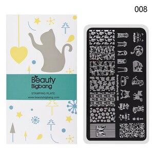 Image 2 - Beautybigbang 6*12Cm Stempelen Voor Nagels Kat Hond Image Plate Nail Stempelen Platen Nail Art Template Mold Bbb XL 008