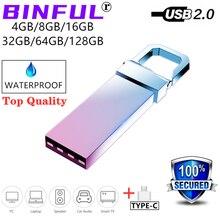 BiNFUL 2 EM 1 Tipo-c usb flash drive pendrive 4G 8G 16G 64 32G disco flash pen drive GB 128GB de memória de alta velocidade vara flash drive