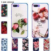 Funda de teléfono I am alone para Huawei Honor 10 10 Lite 10i 20i 20 20S 20 Pro bolsas de moda Color lindo dibujo impreso pintura móvil