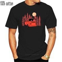 2019 Summer Style Fashion Sunset Van Men's T-Shirt - Beach Camps German car Combi Bus Surfs Tee shirt