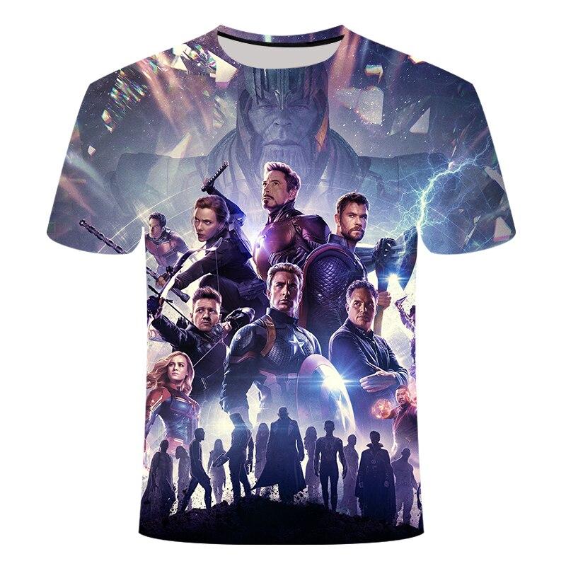 Новинка, футболка Marvel Avengers 4 final, футболка с 3d принтом супергероя Америки, футболка для косплея, Мужская Новая летняя модная футболка - Цвет: TX098