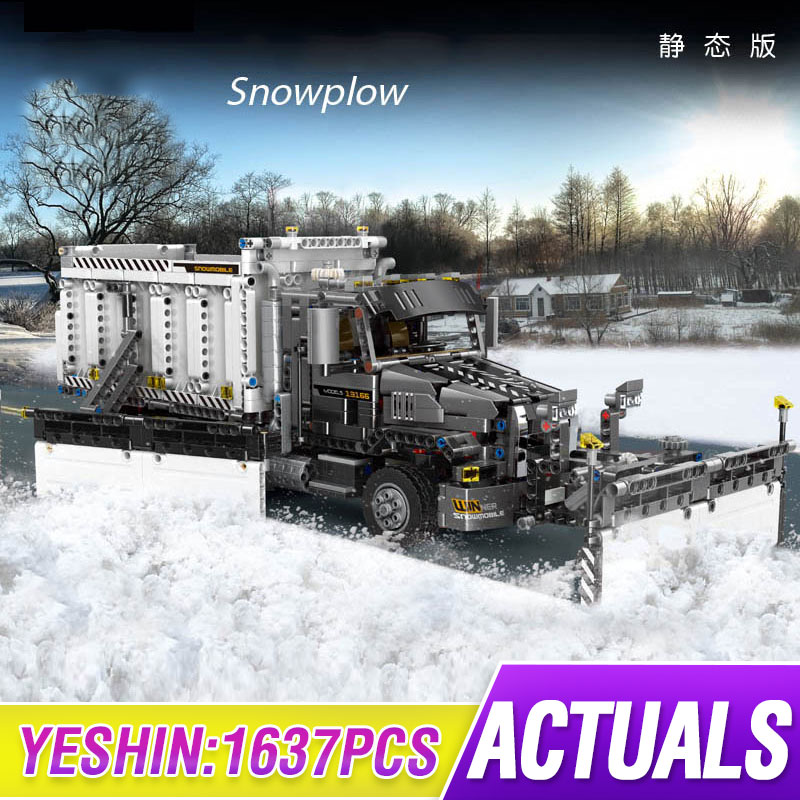 MOC Technic City Series Snow Cleaning Car Great Vehicles Building Blocks Model Bricks Compatible Lepining 42078 Truck Toys Gift