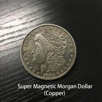 סופר מגנטי מורגן דולר (נחושת) קסמים מופיע/הנעלם מטבע Magie מקרוב אביזרי גימיק אבזרי