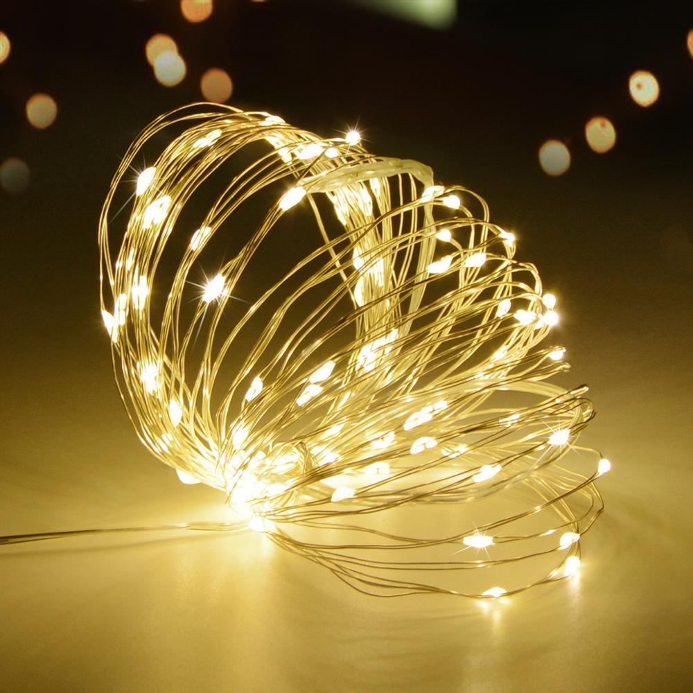 Сказочный светодиодный светильник, 2 м, 5 м, 10 м, водонепроницаемая медная проволока, рождественское свадебное украшение, светильник s, садовы...