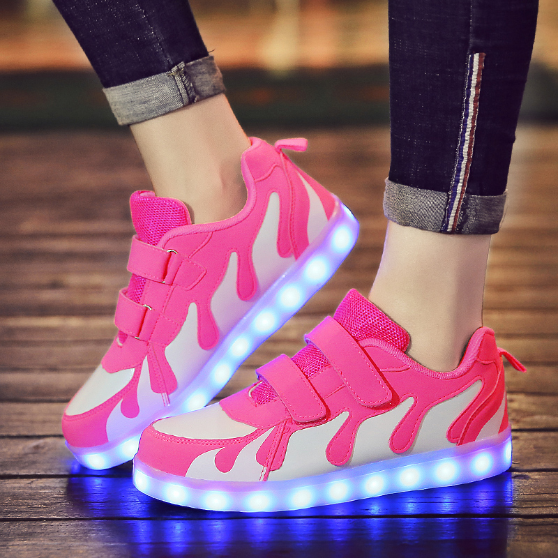 ULKNN Tenis Led Shoes Glowing Sneakers For Boys And Girls Light Up Shoes For Kids Led Luminous Shoes Size 28-40 Tenis Infantil